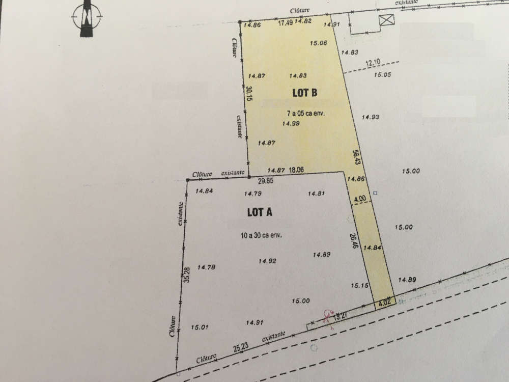 Plan terrain constructible Margaux