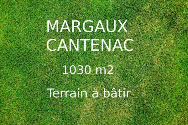 à vendre terrain Margaux Cantenac 1030m2 libre