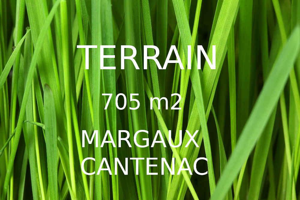 à vendre terrain Margaux Cantenac 705m2 libre