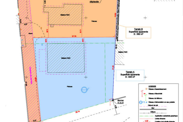 Terrain à bâtir Margaux Cantenac – 582 m2 – A VENDRE
